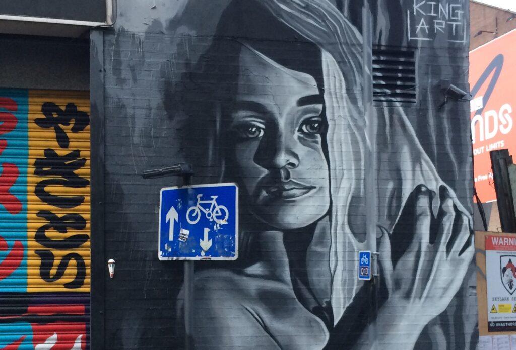 Street-Art Graffiti Bild einer Frau